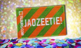 Strijkembleem - Jaozeetie!