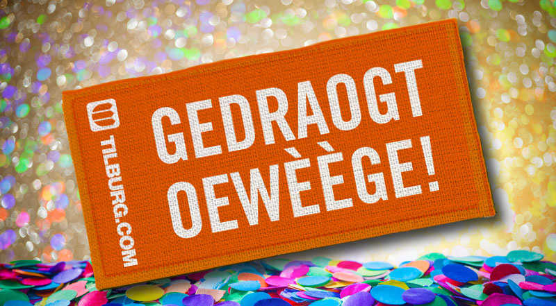 Strijkembleem - Gedraogt oewèège!