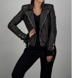 Reiders leather jacket silver