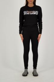 Reinders sweater wording black/ silver