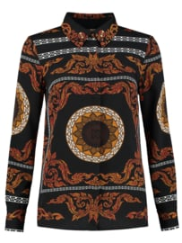 Nikkie Sahara blouse black/gold/white