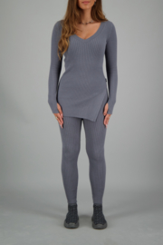 Reinders twin set sweater metal grey
