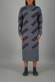 Reinders dress all over print metal grey