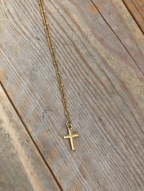 Ketting cross gold