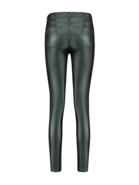 Nikkie Betty coated skinny forest green