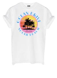 T-shirt Ocean drive white