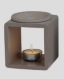 Geurbrander vierkant Wood/  Grijs