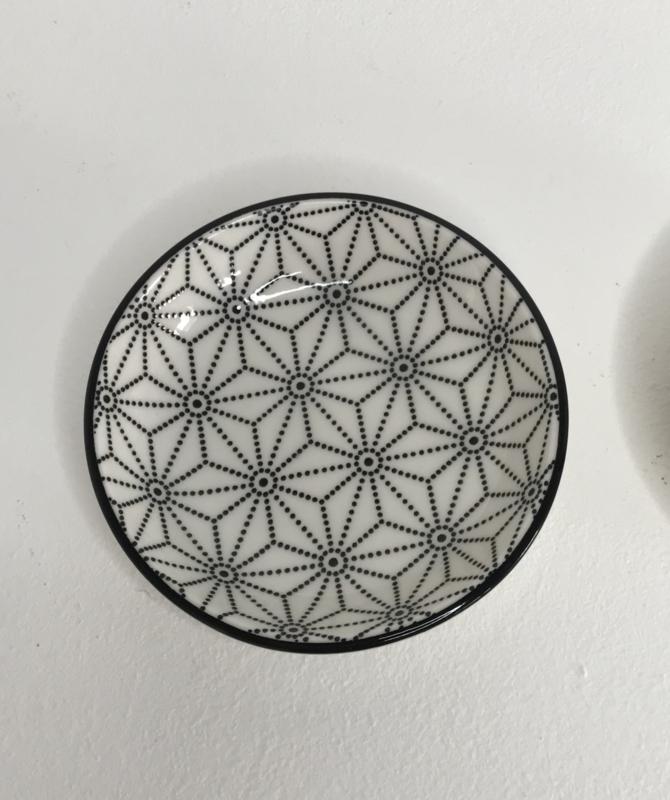Schaaltje zwart/wit geometrisch