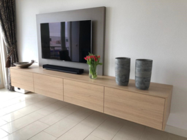 Televisiemeubel houtlook met achterwand