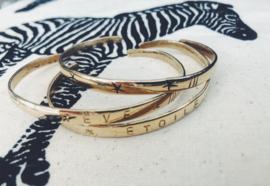 Bracelet Gold - Coin - 3 STARS Design