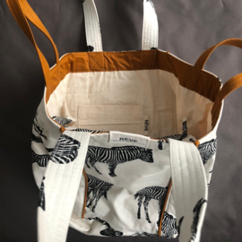 Strandtas -  Zebra Natural / Camel