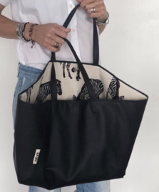 Tote  Reversible - Zwart /Zebra Natural