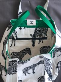BeachBag - Zebra Natural / Green