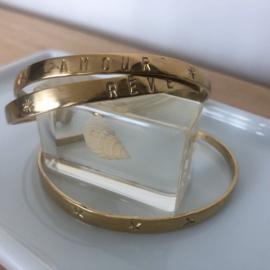 Bracelet Gold - Coin - AMOUR  Design