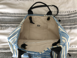NOMADS TOTE - ISLAND BLUE /black leather straps - SOON AVAIL