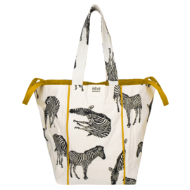 BeachBag-  Zebra Natural / Ochre Yellow