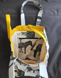 Strandtas - Zebra Natural/Geel