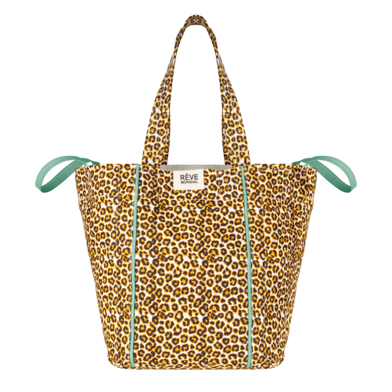 BEACHBAG - TIGER YELLOW / soft green accent- SOON AVAILABLE