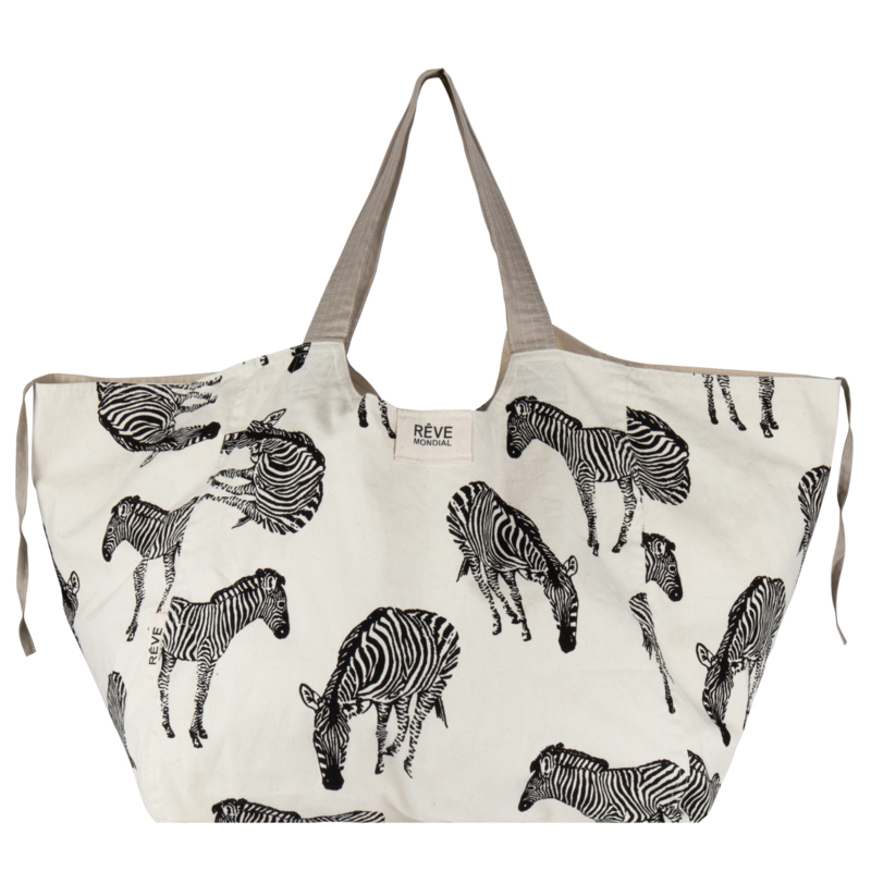 SHOPPER - ZEBRA NATURAL / beige accent -15 JUNE AVAILABLE