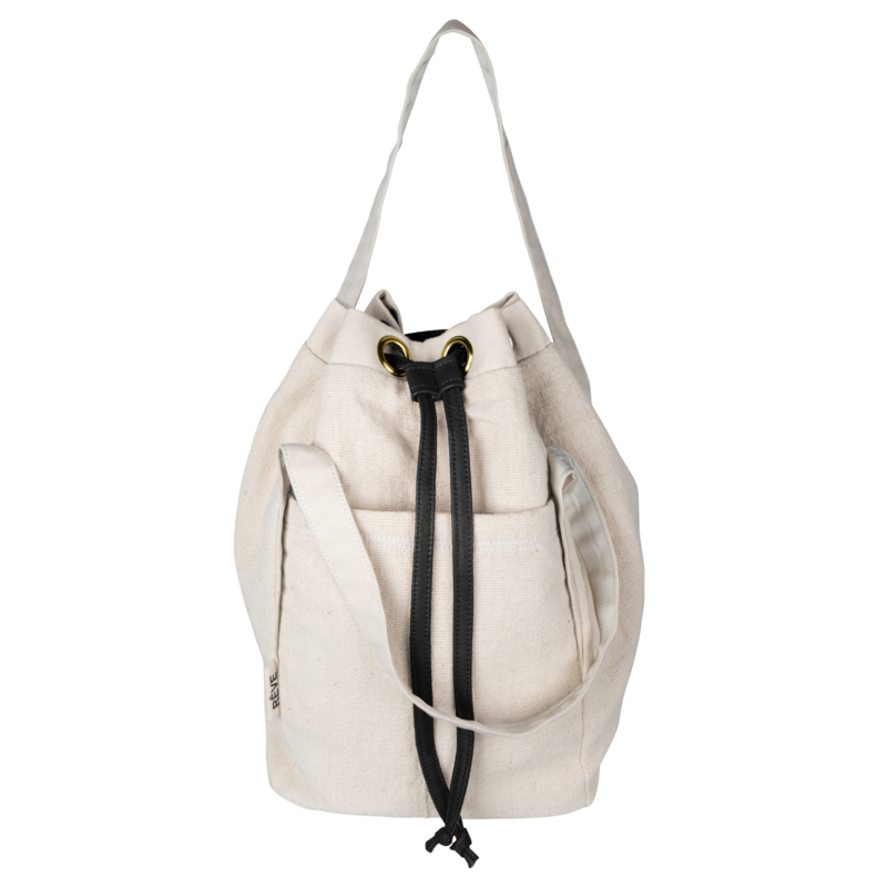 BucketBag - Natural /Black leather- Delayed due to Covid19