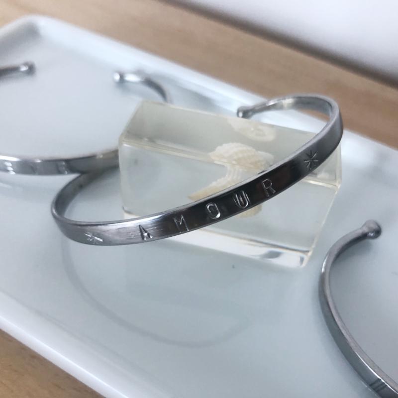Bracelet Silver Tone - AMOUR- Design