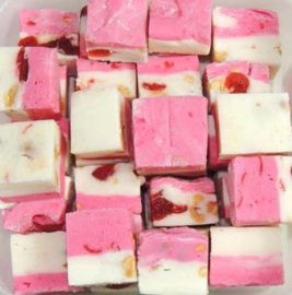 Fudge pink white