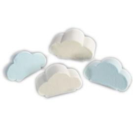 Mellow wolken blauwwit