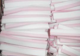 Spekreepjes roze-wit