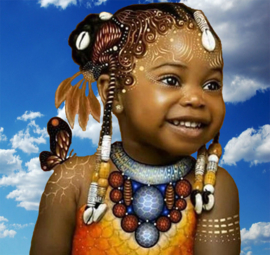 Portret van een mooie meisje (40x40 CM)
