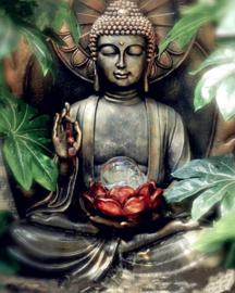 boedha met lotusbloem (40x50 CM)