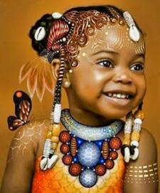 Portret van een mooie meisje 1 (40x50 CM)
