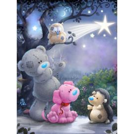 beer en egel in het sprookjesbos 40X50 cm
