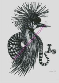 kroonkraanslangvogel 50x70 cm