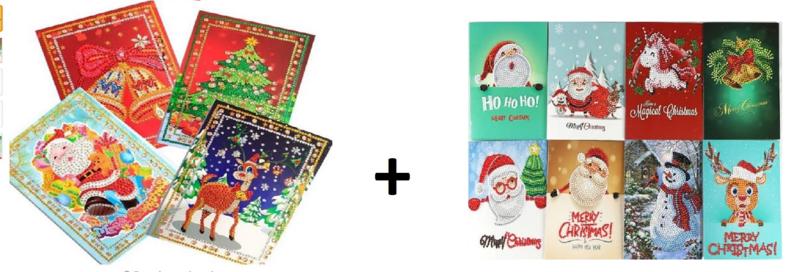 Kerstkaarten  *12 stuks*