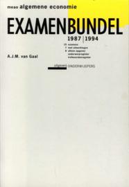 1987-1994 Examenbundel meao algemene economie , A.J.M. van Gaal