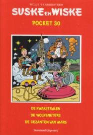 Suske En Wiske Pocket 030 De kwakstralen, De wolkeneters, De gezanten van Mars , Willy Vandersteen Serie: Suske & Wiske, Pocke