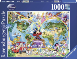 Ravensburger puzzel Disney's Wereldkaart - Legpuzzel - 1000 stukjes ,  Ravensburger