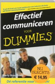 Voor Dummies - Effectief communiceren voor Dummies pocketeditie , Marty Brounstein Serie: Voor Dummies