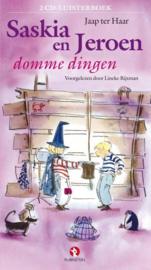 Saskia en Jeroen domme dingen (luisterboek) 2 cd luisterboek voorgelezen door Lineke Rijxman , Jaap ter Haar