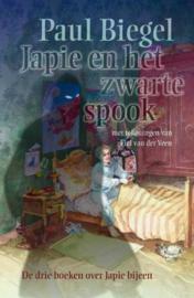 Japie En Het Zwarte Spook bevat de titels: Japie en de dingen ; Japie en het grote geld ; Japie rekent af , Paul Biegel