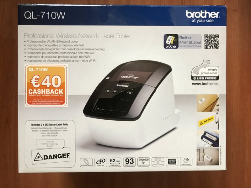 Brother QL-710W - Labelprinter