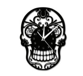 Vinyl klok Skull
