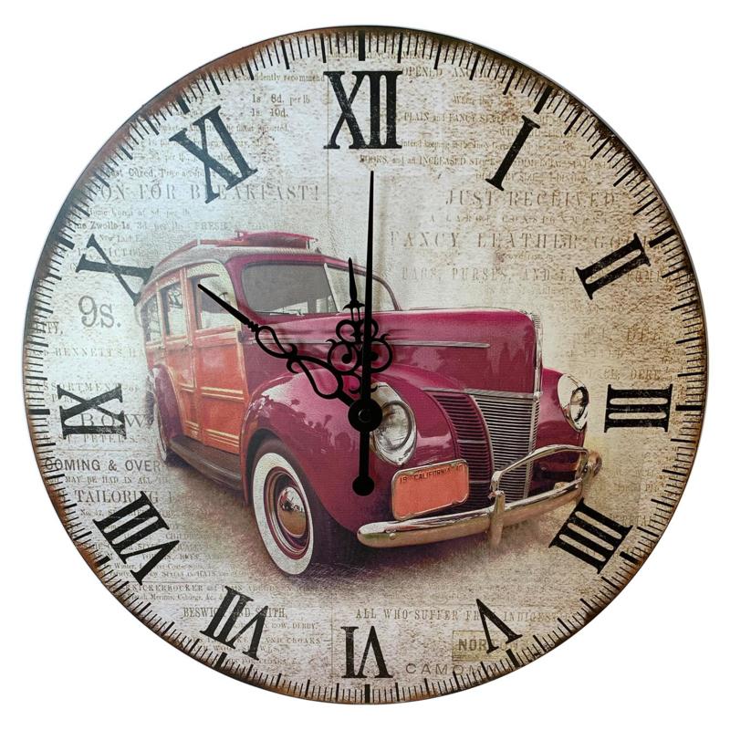 Wandklok vintage auto