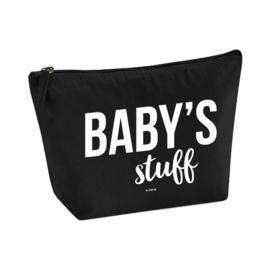 Toilettas zwart groot - Baby's stuff, per 5 stuks