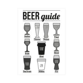 XL Poster - Beer guide. Per 5 stuks
