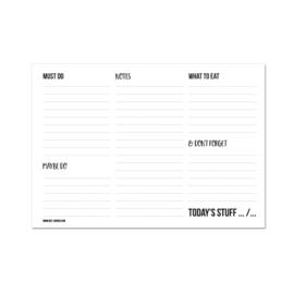 A5 Dagplanner - Today's stuff, per 5 stuks