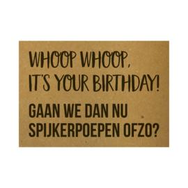Whoop whoop, it's your birthday! Gaan we dan nu spijkerpoepen ofzo?, per 5 stuks