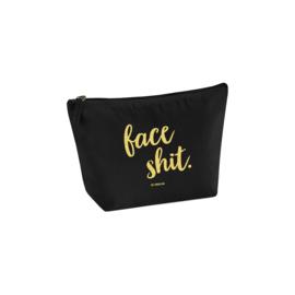 Toilettasje zwart goud - FACE SHIT., per 5 stuks