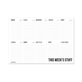 A4 Weekplanner - This week's stuff, per 5 stuks