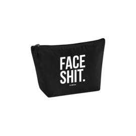 Toilettasje zwart - FACE SHIT., per 5 stuks